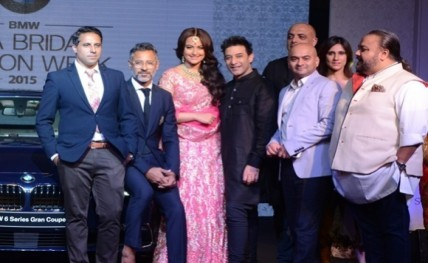 Participating designers lined up at the announcement press conference of BMW IBFW 201520150529184615_l